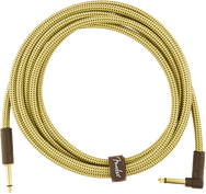 Fender Deluxe Series 10' Straight/Angle Instrument Cable - Tweed