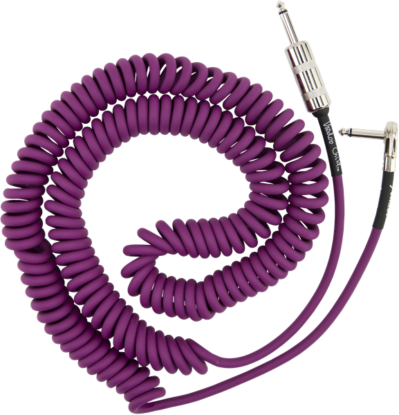 Fender Jimi Hendrix Voodoo Child Coiled Instrument Cable - Purple
