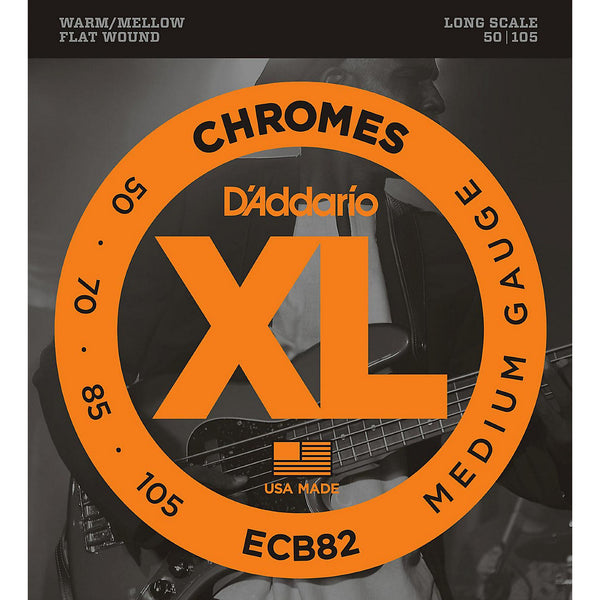 D'Addario Chromes ECB82 Flat Wound Bass Strings
