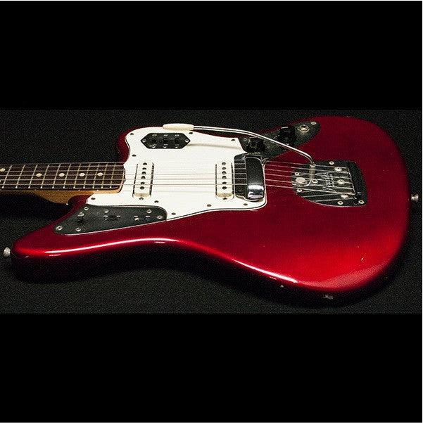 1964 FENDER JAGUAR CANDY APPLE RED - Garrett Park Guitars  - 4