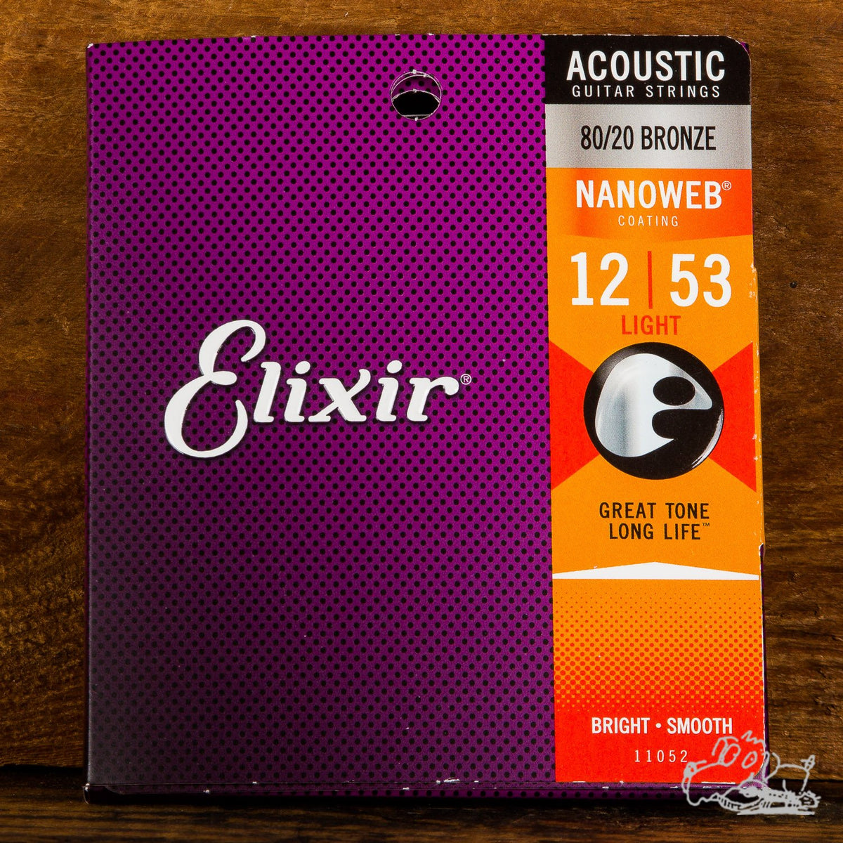 Elixir Nanoweb Coating Acoustic Guitar Strings 80/20 Bronze Light 12-53