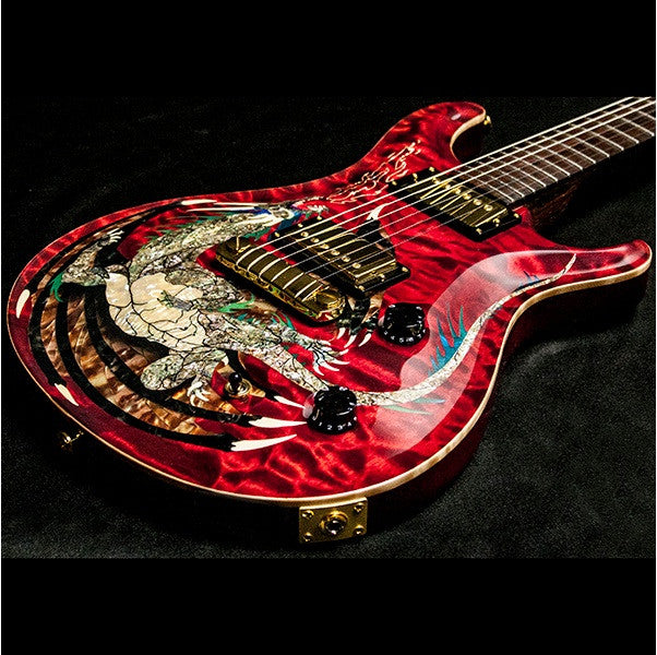 2000 PRS DRAGON 2000 #15 QUILT RED - Garrett Park Guitars  - 2