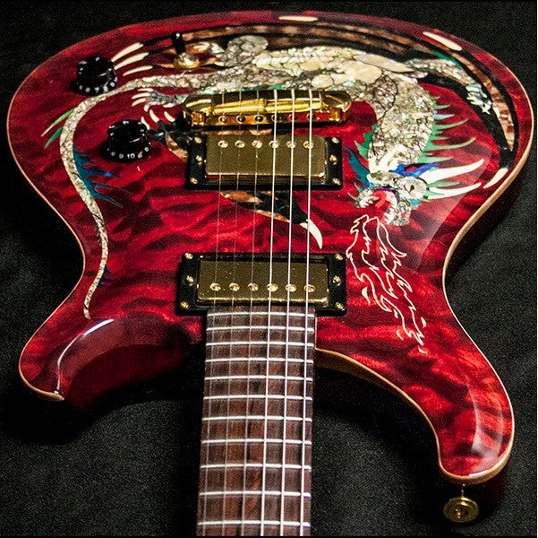 2000 PRS DRAGON 2000 #15 QUILT RED - Garrett Park Guitars  - 13