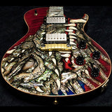 2003 PRS DRAGON 2002 SINGLECUT #41 RED - Garrett Park Guitars  - 4