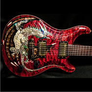 2000 PRS DRAGON 2000 #15 QUILT RED - Garrett Park Guitars  - 12