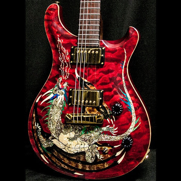 2000 PRS DRAGON 2000 #15 QUILT RED - Garrett Park Guitars  - 1