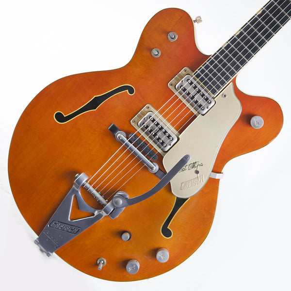 1965 Gretsch 6120 Chet Atkins Western Orange - Garrett Park Guitars  - 1