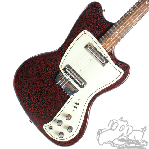 1965 Danelectro Dane Red Gator Finish