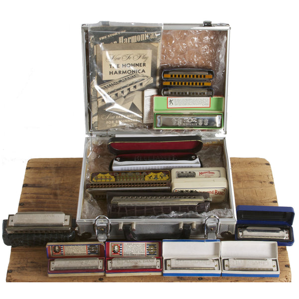 Case of Vintage Harmonicas - Garrett Park Guitars  - 1