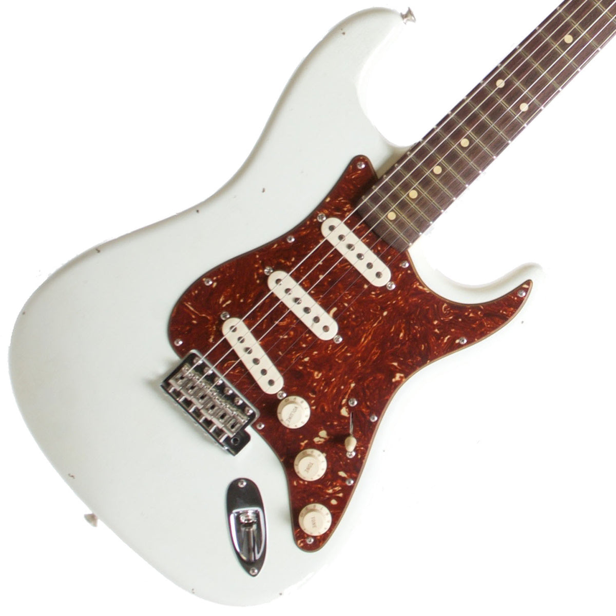 2015 Fender Custom Shop Rocking Dog '62 Stratocaster Olympic White - Garrett Park Guitars  - 1