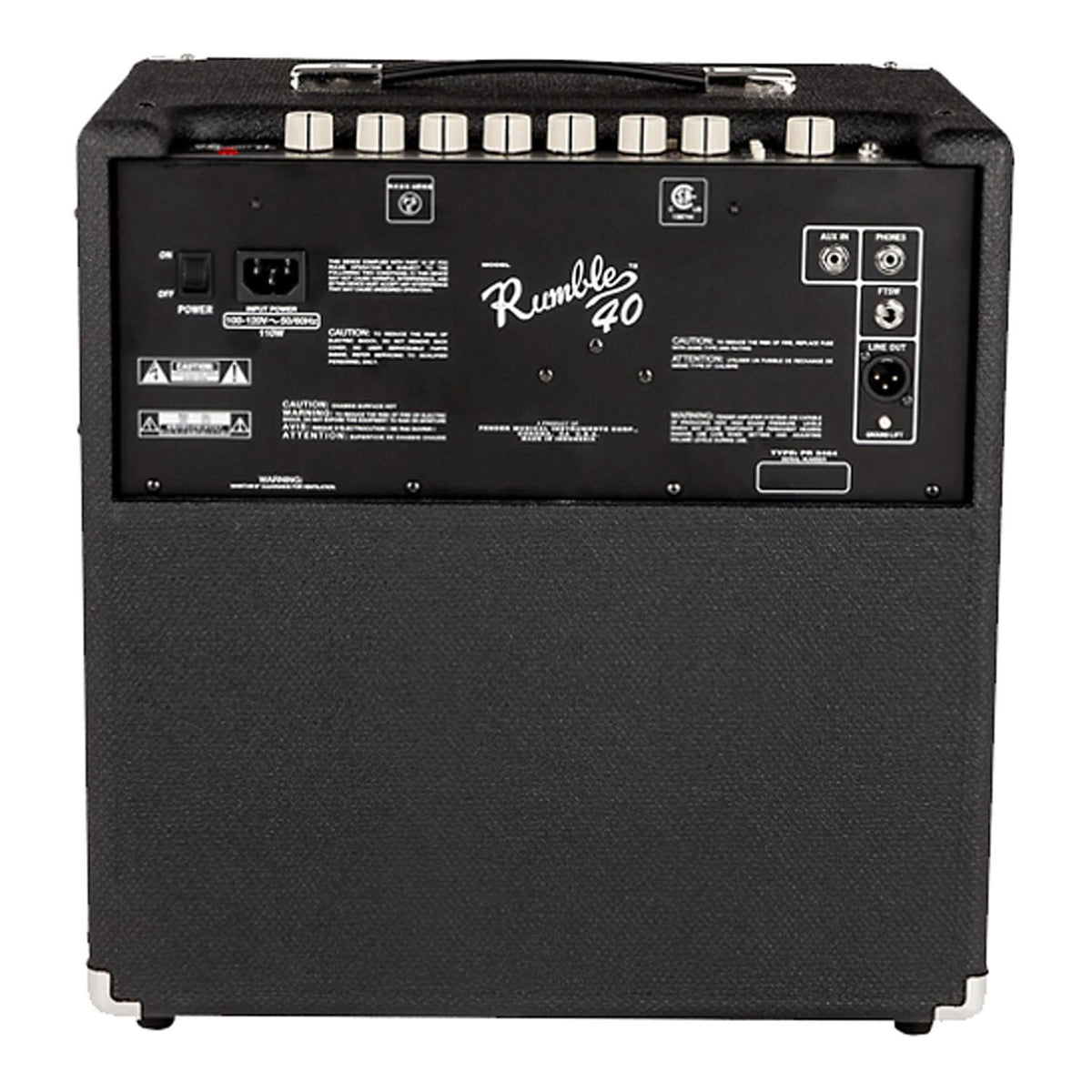 Fender Amp Bass Rumble 40 Black 40W 1X10 - Garrett Park Guitars  - 4