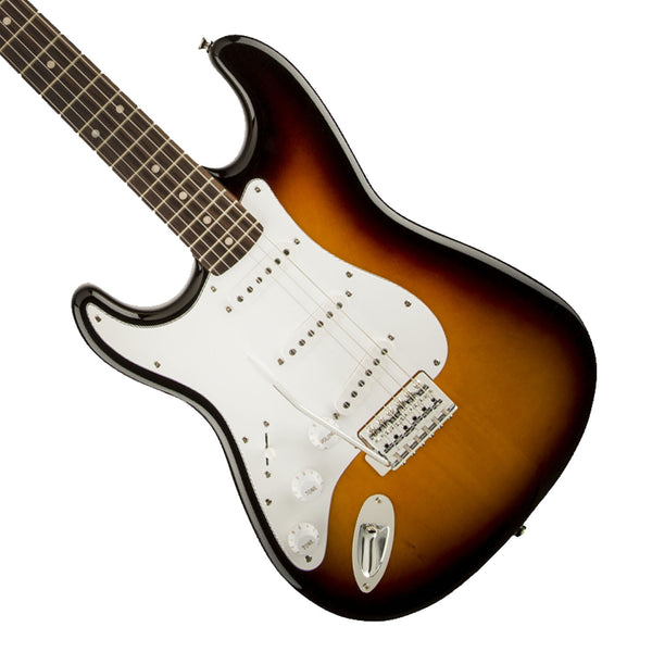 Fender Squier Affinity Series Stratocater Left-Handed in Brown Sunburst - Garrett Park Guitars  - 1