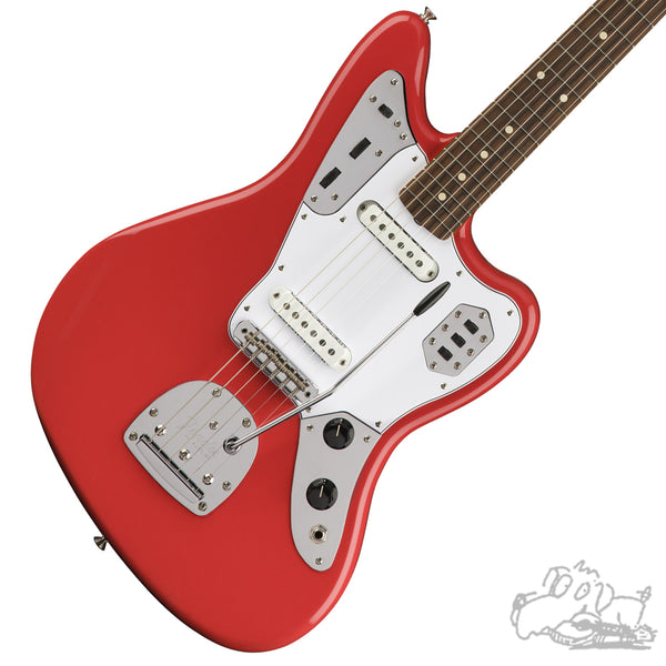 Fender 60s Jaguar® Lacquer, Pau Ferro Fingerboard, Fiesta Red - Demo Model - Blemished