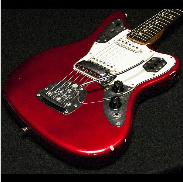 1964 FENDER JAGUAR CANDY APPLE RED - Garrett Park Guitars  - 1