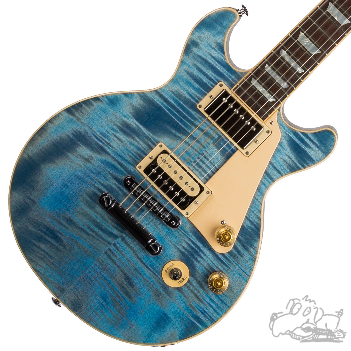2016 Gibson Les Paul Double Cut In Ocean Blue