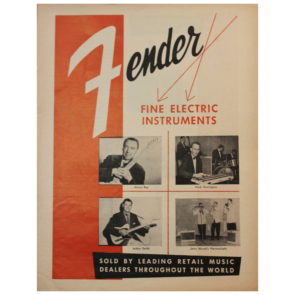 1956 Fender Catalog - Garrett Park Guitars  - 1