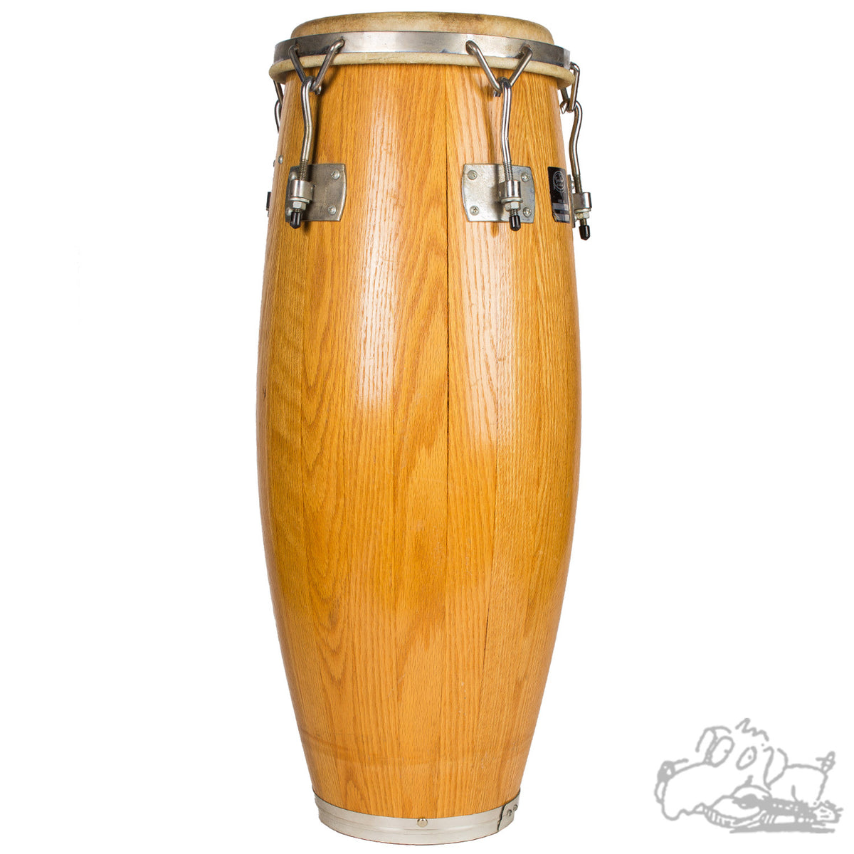 Used Gon Bops IO-3400 Oak Conga Drum