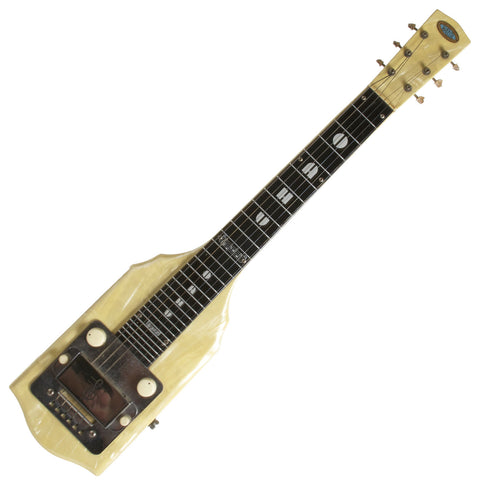 1950 Oahu Lap Steel White Pearloid - Garrett Park Guitars  - 1