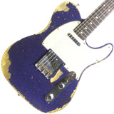 FENDER CUSTOM SHOP PURPLE SPARKLE TELECASTER CUSTOM RELIC - Garrett Park Guitars  - 1