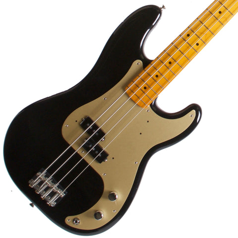 2015 Fender Classic Series 50's Precision Bass Lacquer Midnight Black - Garrett Park Guitars  - 1