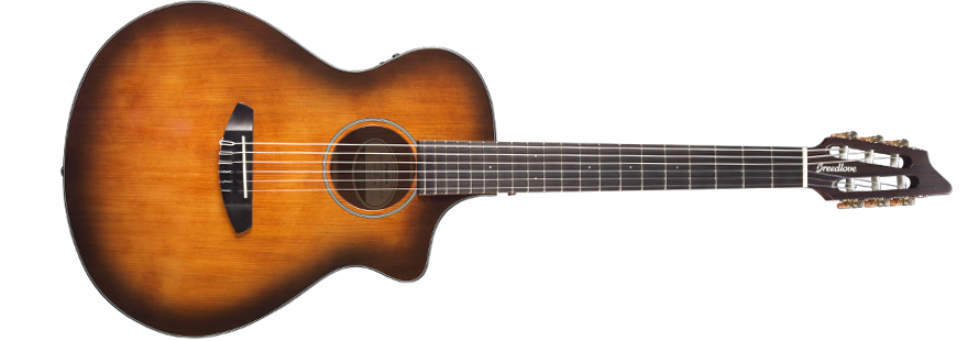 Breedlove Discovery Concert Nylon CE in Satin Bourbon