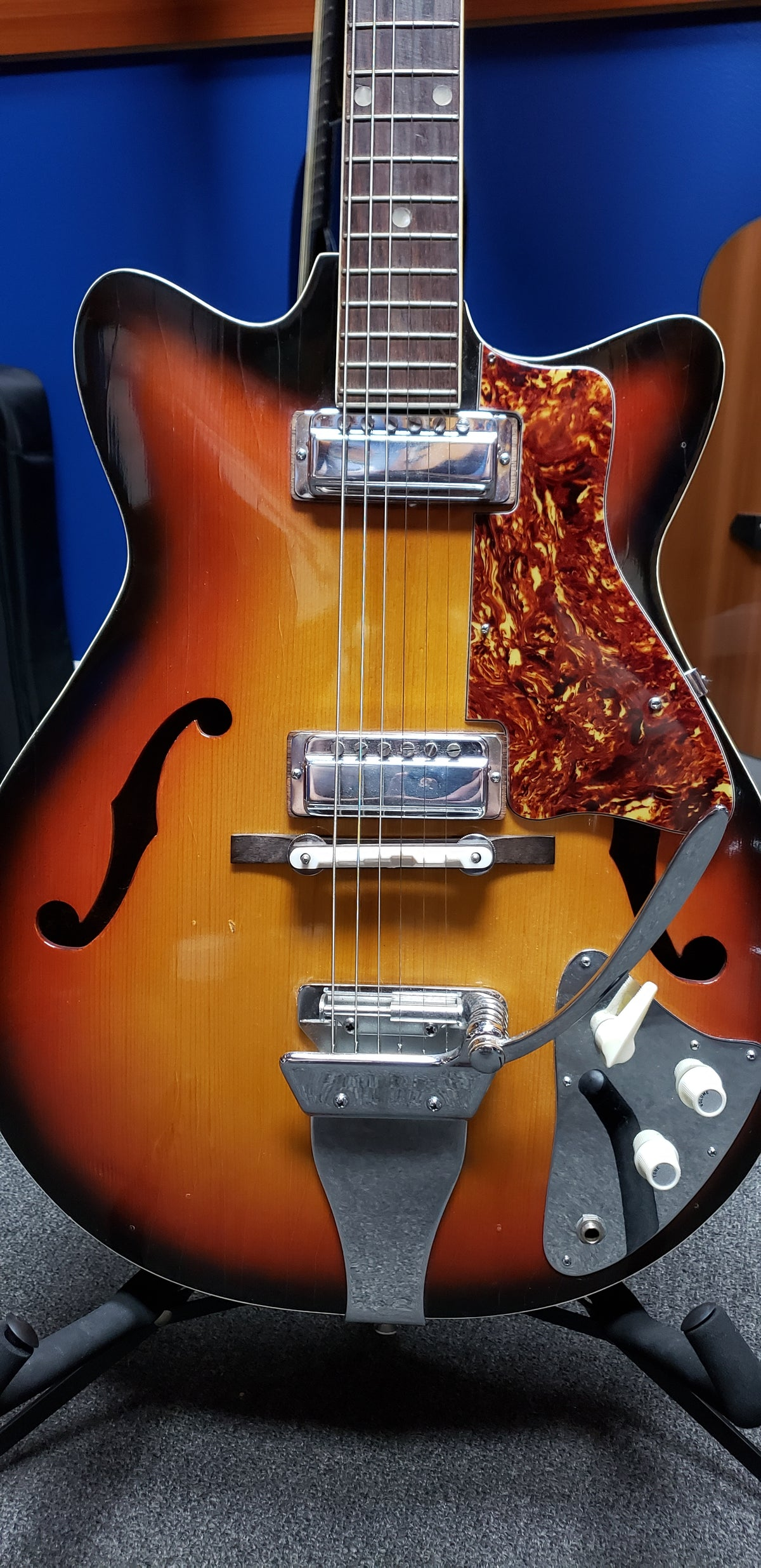 1970s Kent Semi-Hollow in Sunburst