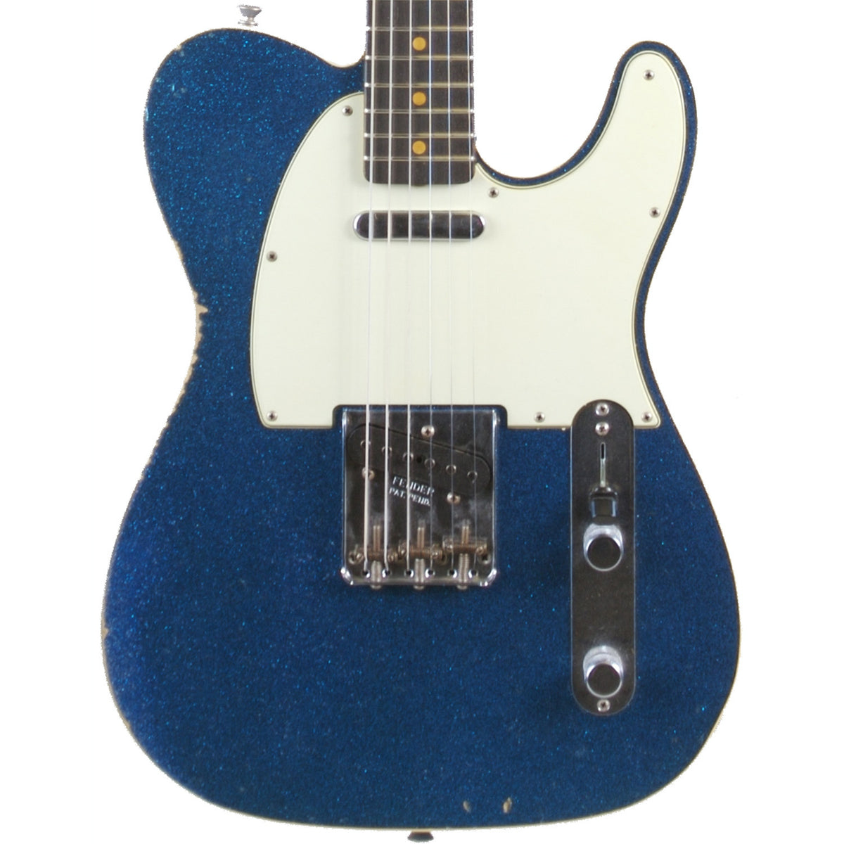 Fender Custom Shop '60 Telecaster Relic Blue Sparkle - Garrett Park Guitars  - 2