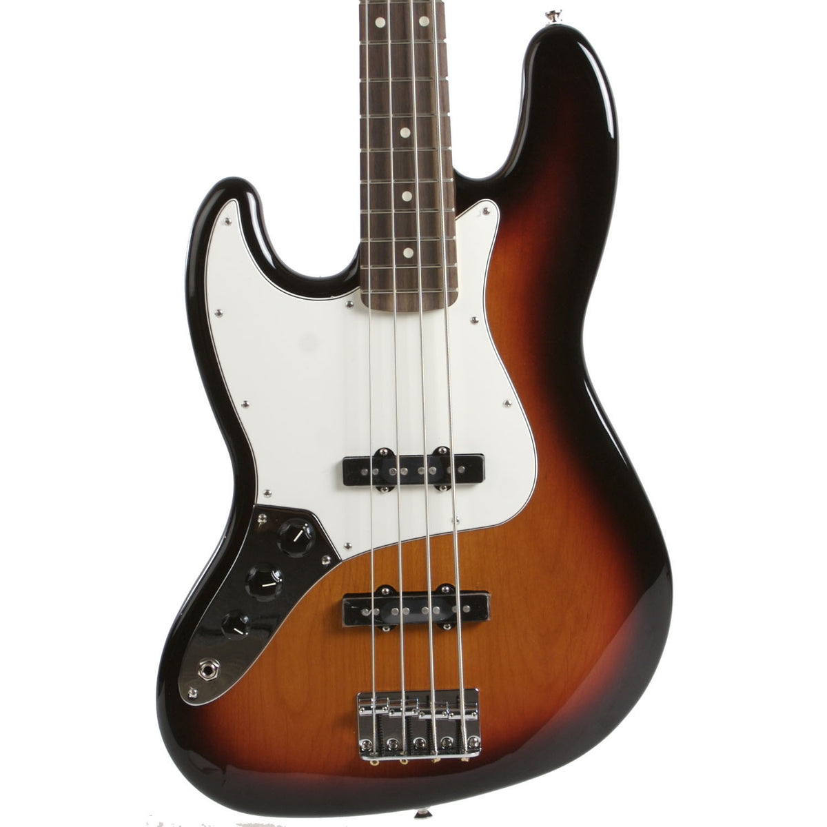 2015 Fender Standard Jazz Bass Lefty Sunburst - Garrett Park Guitars  - 2