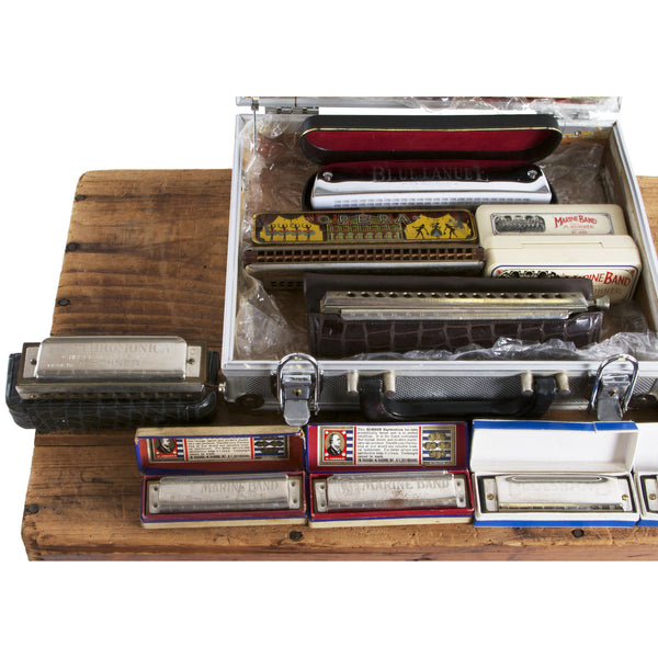 Case of Vintage Harmonicas - Garrett Park Guitars  - 2