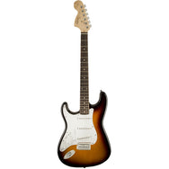 Fender Squier Affinity Series Stratocater Left-Handed in Brown Sunburst - Garrett Park Guitars  - 2