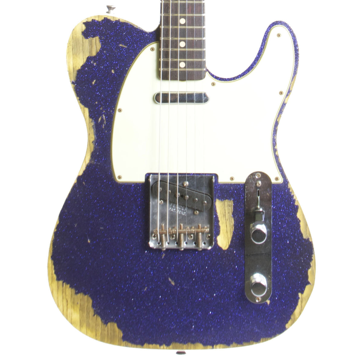 FENDER CUSTOM SHOP PURPLE SPARKLE TELECASTER CUSTOM RELIC - Garrett Park Guitars  - 2