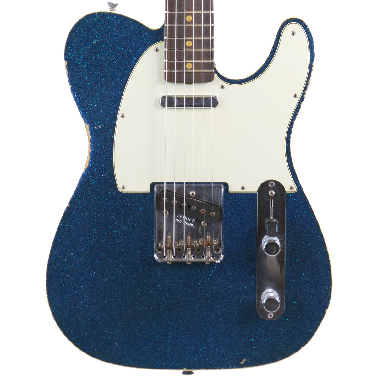 Fender Custom Shop Blue Sparkle '60 Telecaster Custom Relic - Garrett Park Guitars  - 2