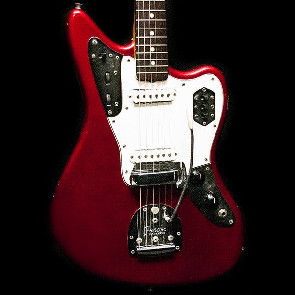 1964 FENDER JAGUAR CANDY APPLE RED - Garrett Park Guitars  - 2
