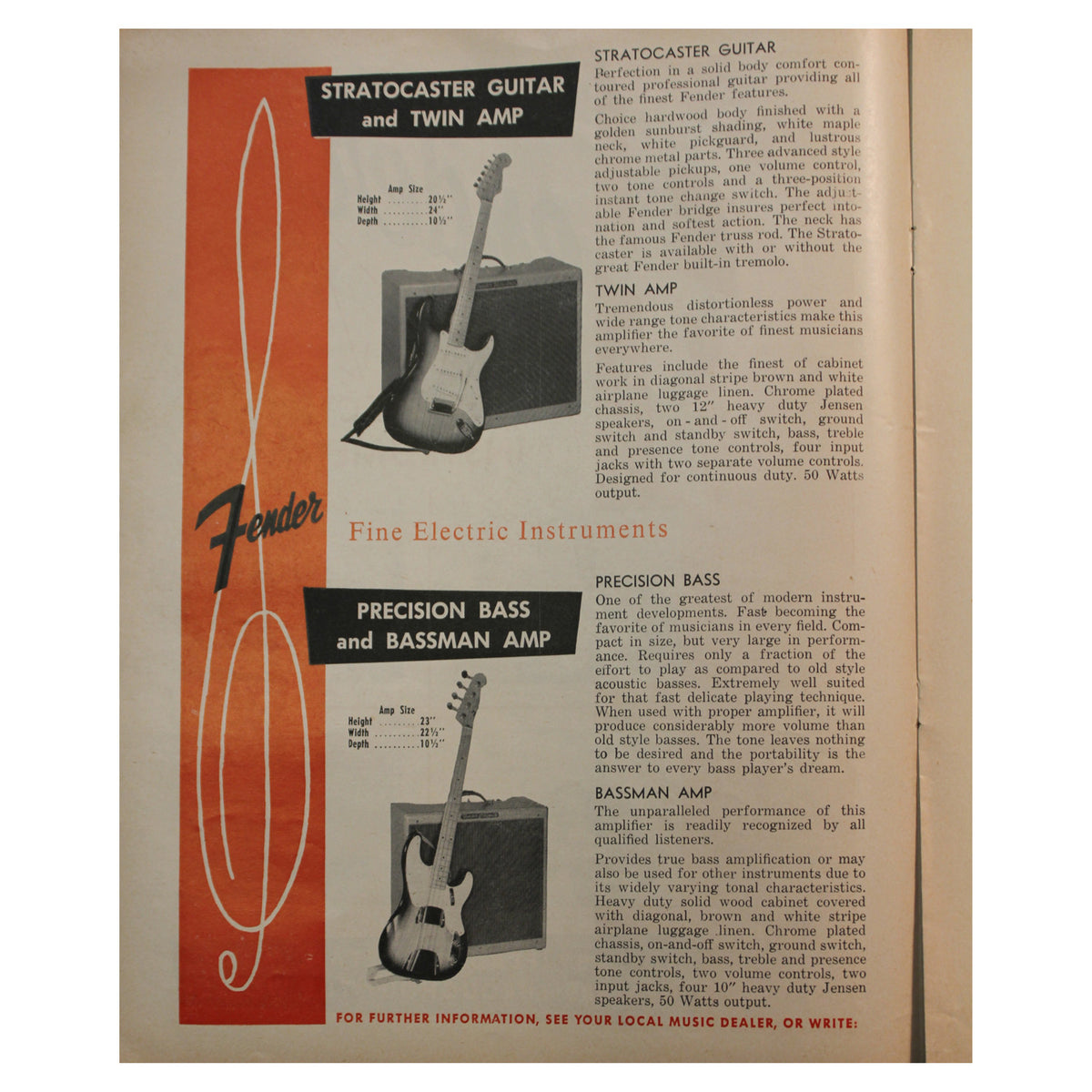 1956 Fender Catalog - Garrett Park Guitars  - 2