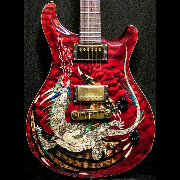 2000 PRS DRAGON 2000 #15 QUILT RED - Garrett Park Guitars  - 4