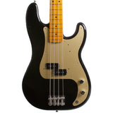 2015 Fender Classic Series 50's Precision Bass Lacquer Midnight Black - Garrett Park Guitars  - 2