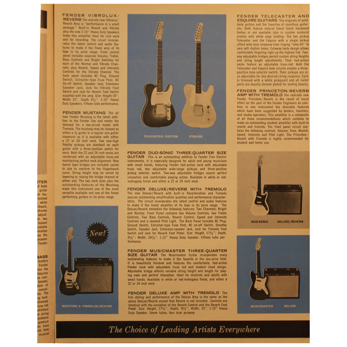 Fender Catalog Collection (1955-1966) - Garrett Park Guitars  - 75