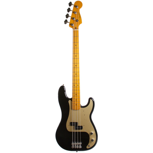 2015 Fender Classic Series 50's Precision Bass Lacquer Midnight Black - Garrett Park Guitars  - 3