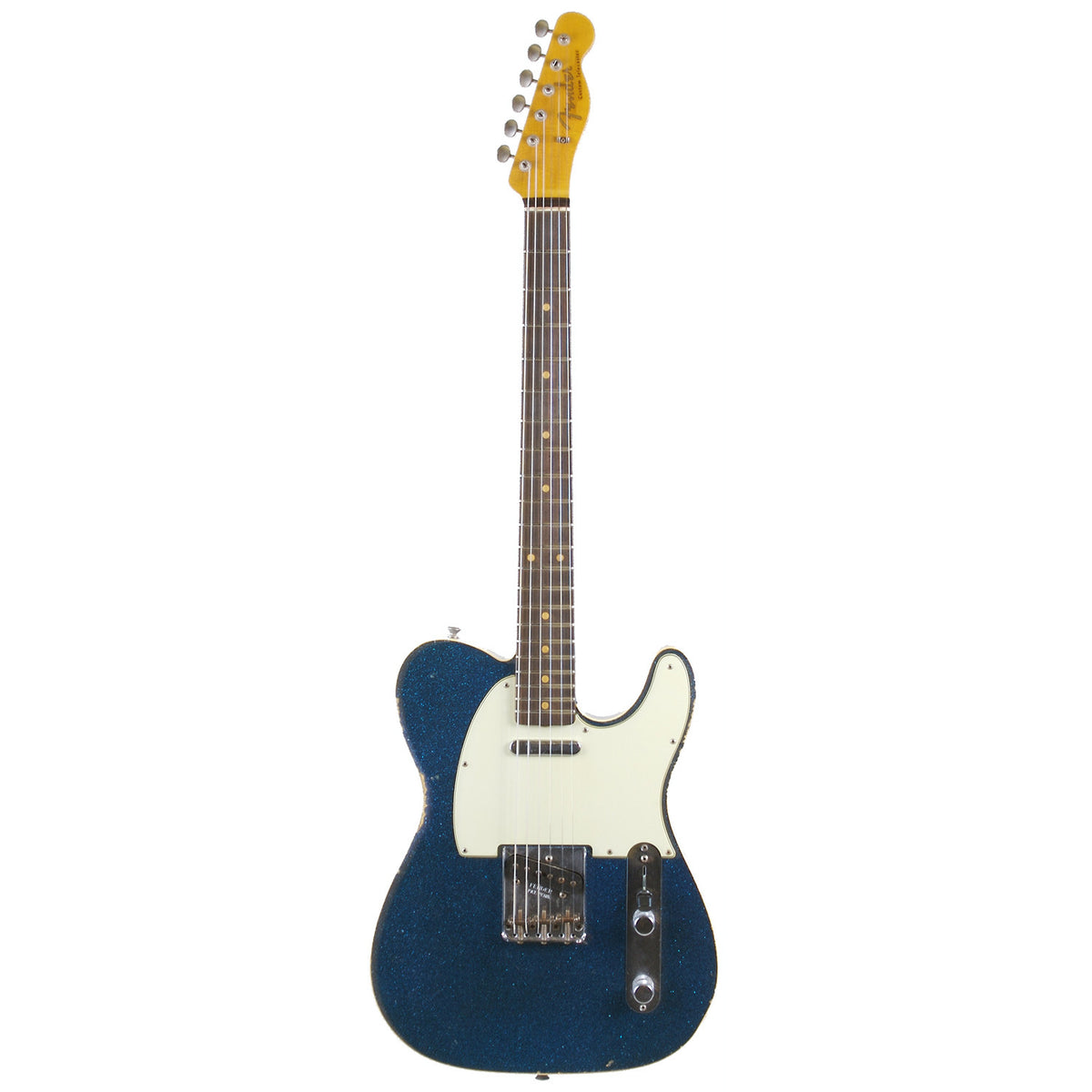 Fender Custom Shop Blue Sparkle '60 Telecaster Custom Relic - Garrett Park Guitars  - 3