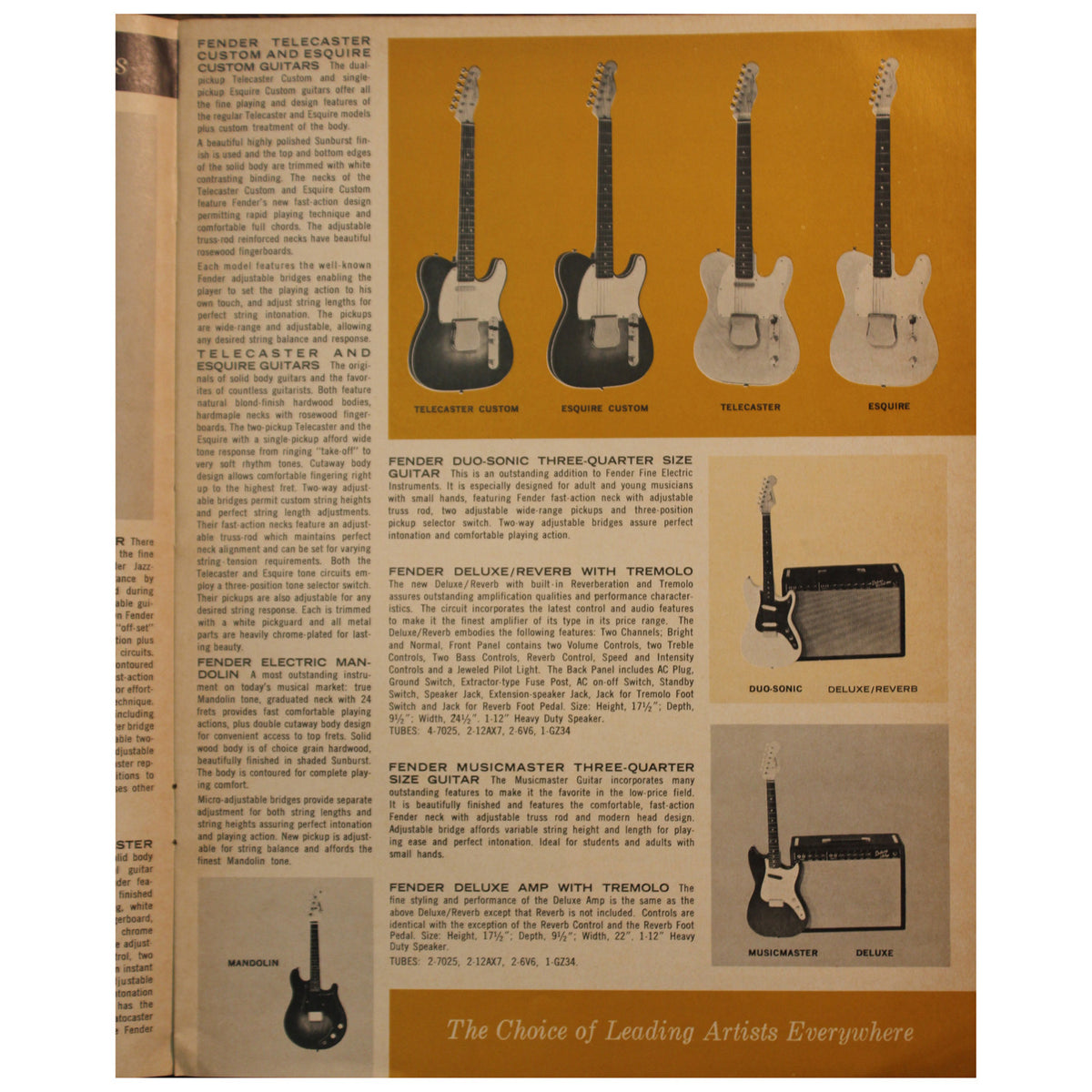 Fender Catalog Collection (1955-1966) - Garrett Park Guitars  - 67
