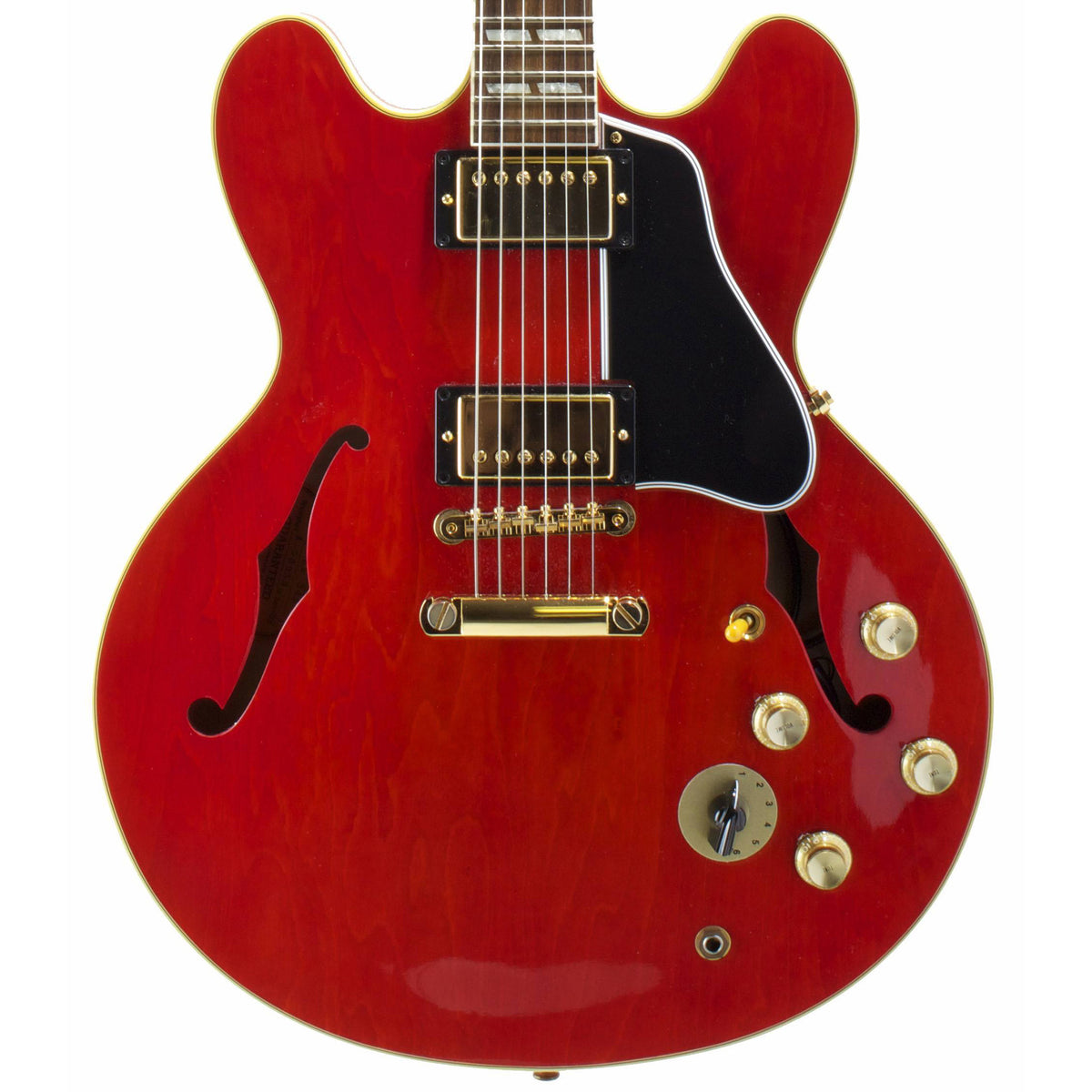 2000 GIbson Custom Shop ES-345 Mono, Cherry Red with Gold - Garrett Park Guitars  - 2