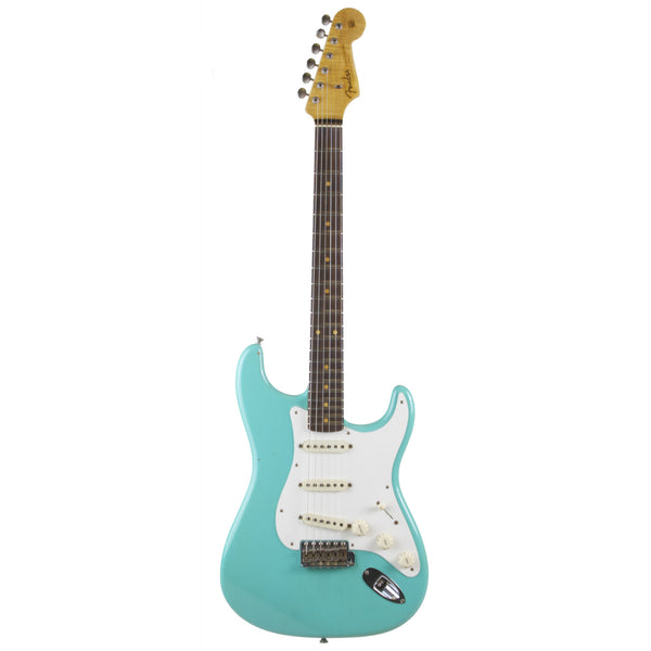 2015 Fender Custom Shop 1959 Journeyman Relic Stratocaster RW, Sea Foam Green - Garrett Park Guitars  - 3