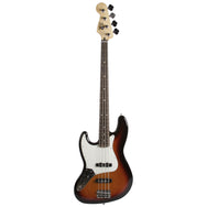 2015 Fender Standard Jazz Bass Lefty Sunburst - Garrett Park Guitars  - 3