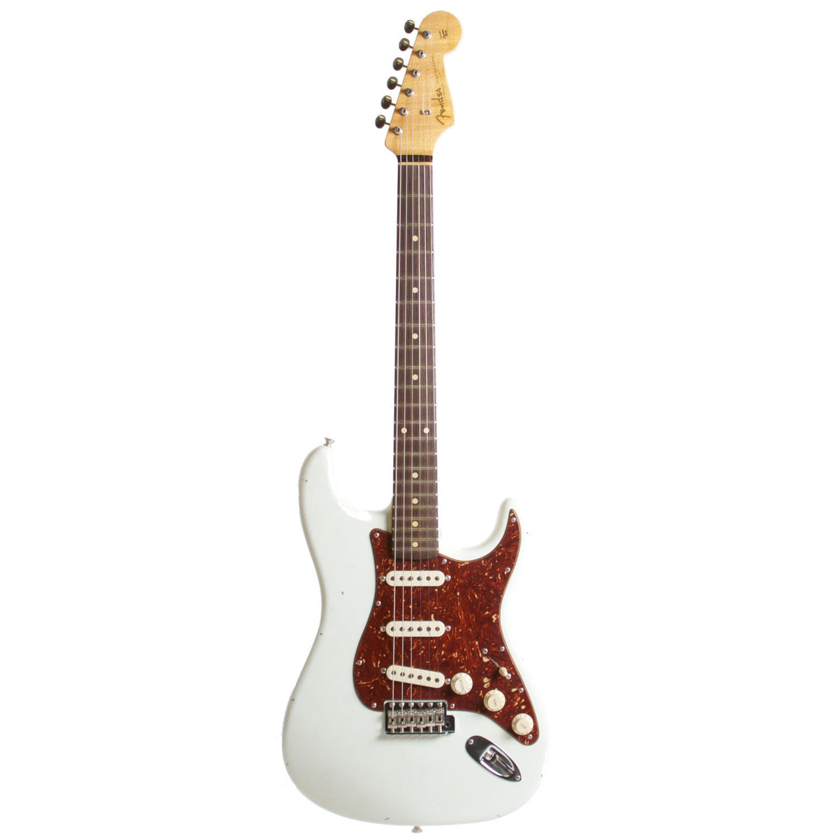 2015 Fender Custom Shop Rocking Dog '62 Stratocaster Olympic White - Garrett Park Guitars  - 3