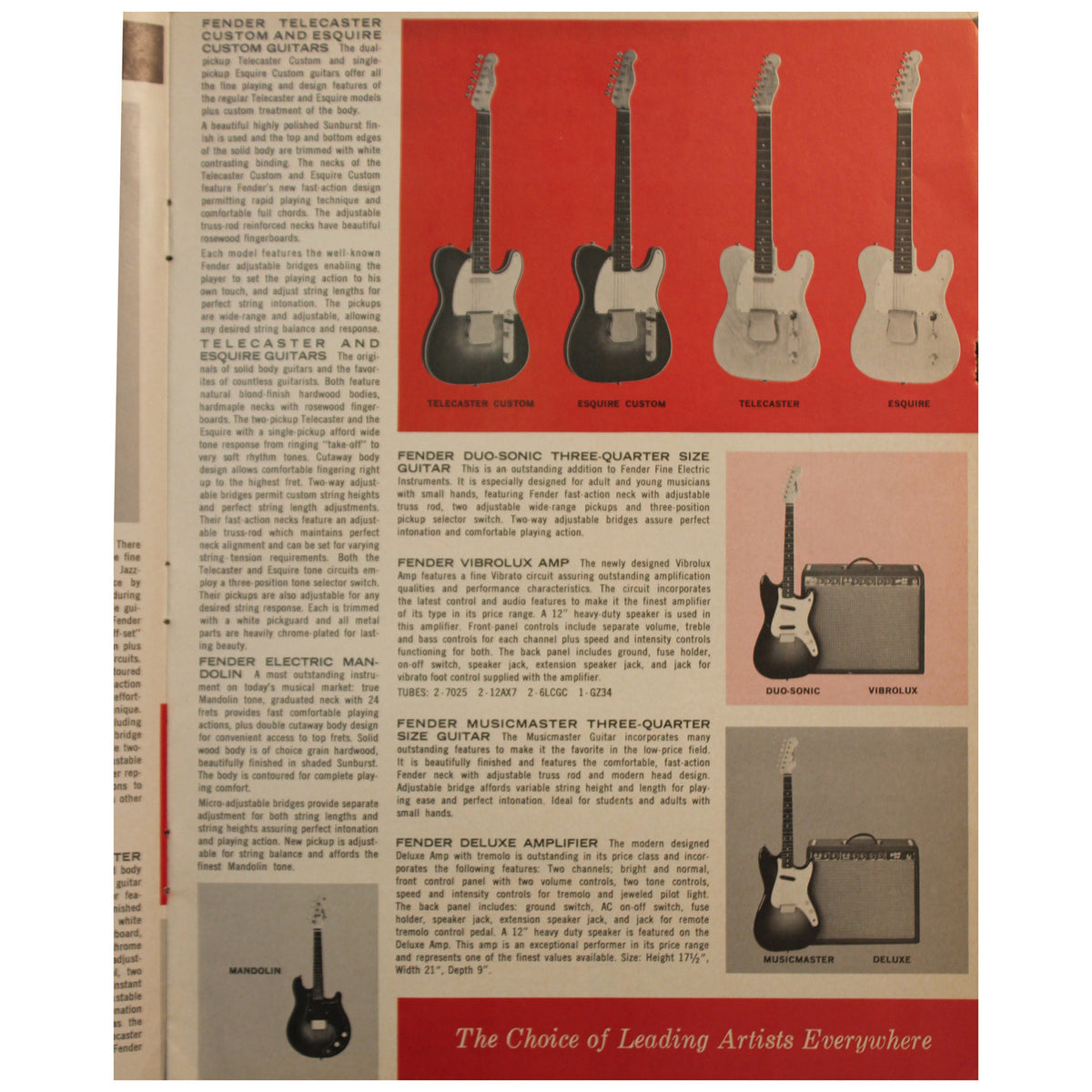 Fender Catalog Collection (1955-1966) - Garrett Park Guitars  - 59