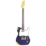 FENDER CUSTOM SHOP PURPLE SPARKLE TELECASTER CUSTOM RELIC - Garrett Park Guitars  - 3