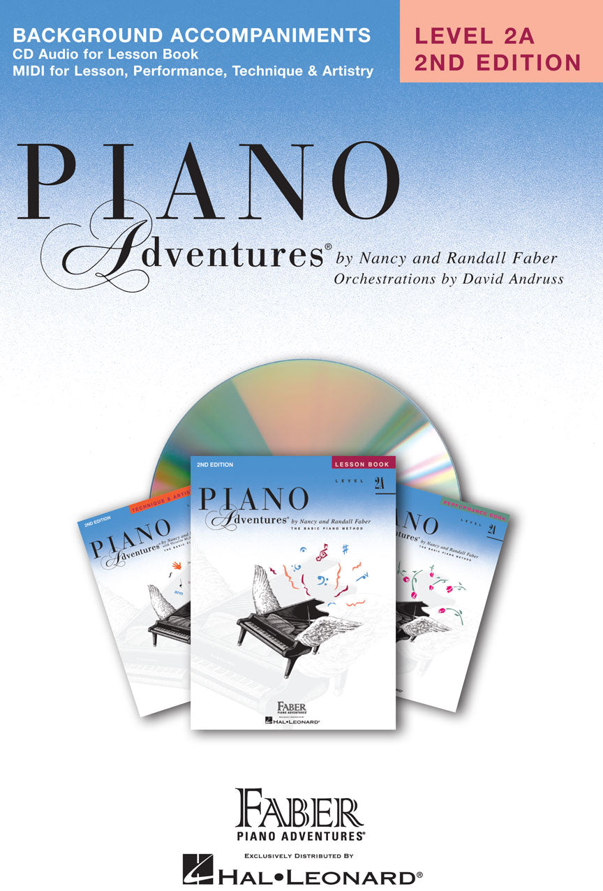 Hal Leonard Piano Adventures Level 2A 2nd Addition Accompaniments CD