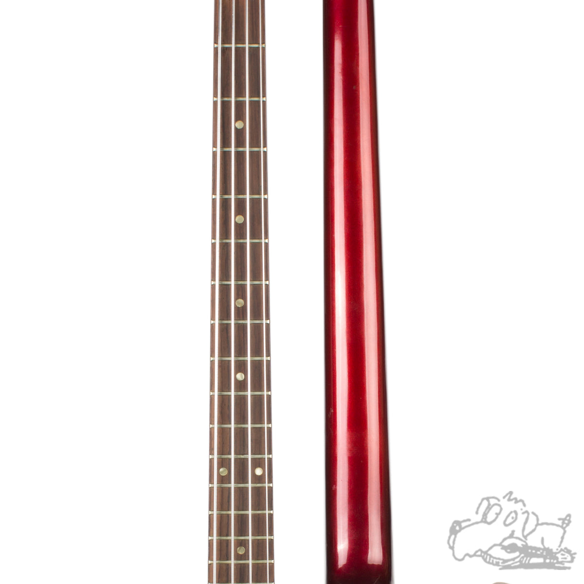 1966 Sparkling Burgundy Gibson EB-2 Electric Bass Guitar