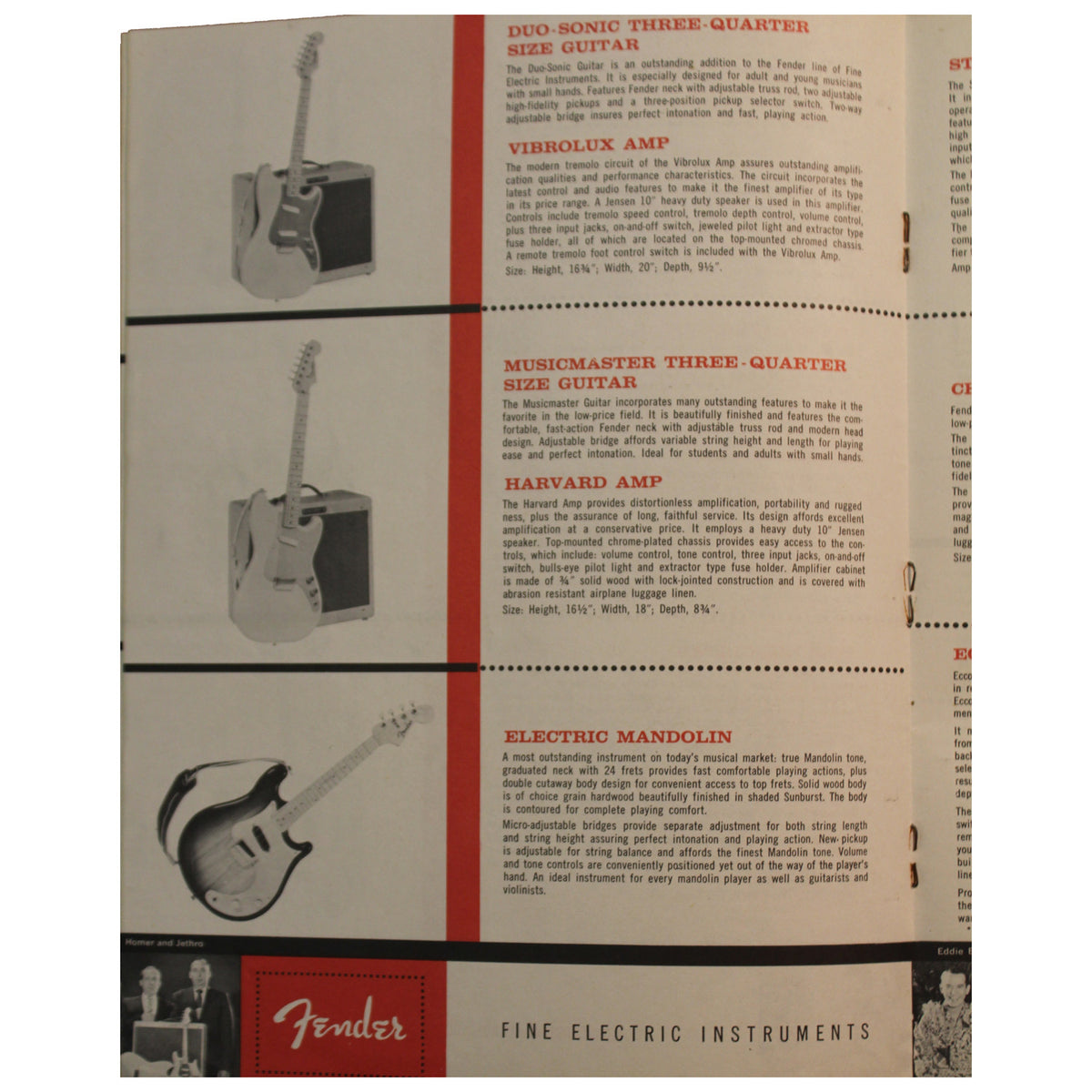 1959 Fender Catalog - Garrett Park Guitars  - 4
