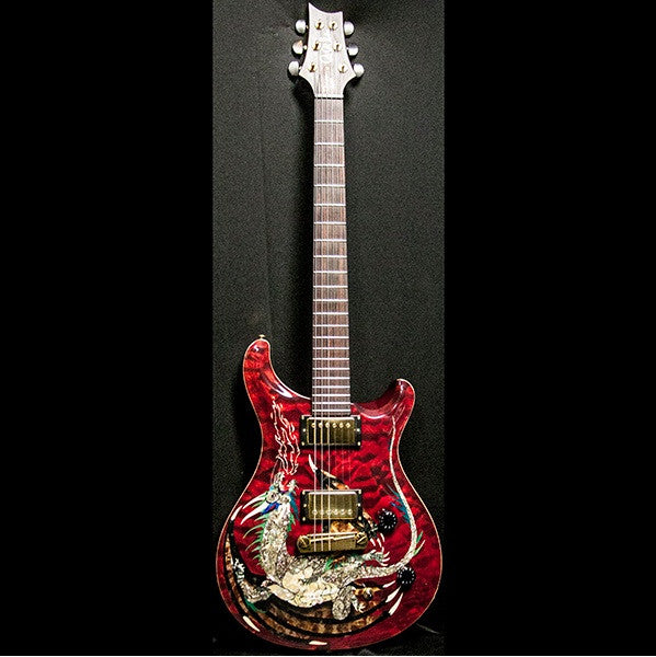 2000 PRS DRAGON 2000 #15 QUILT RED - Garrett Park Guitars  - 6